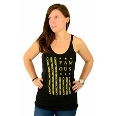 Famous Stars and Straps Gold Citizen Tank Top Vintage Black