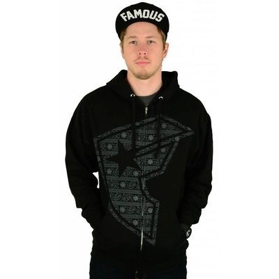 Famous Stars and Straps Gang Bar Zip Hoody Black