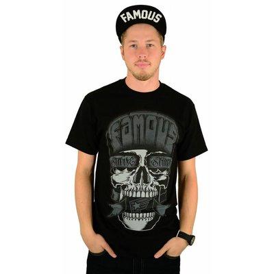 Famous Stars and Straps Flipped Skull T-Shirt Black