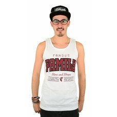 Famous Stars and Straps Fam Respect Tank White/Burgundy