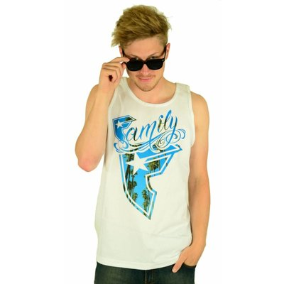 Famous Stars and Straps Breezin Tank Top White