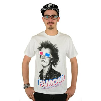 Famous Stars and Straps 3D Spike T-Shirt White