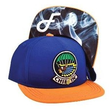 Flat Fitty Chiefin Snapback Cap Navy/Orange