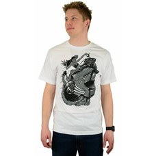 Famous Stars and Straps Hot Roddin T-Shirt White