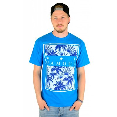 Famous Stars and Straps Tropical Box T-Shirt Turquoise
