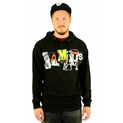 Famous Stars and Straps Trashed Hoodie Black