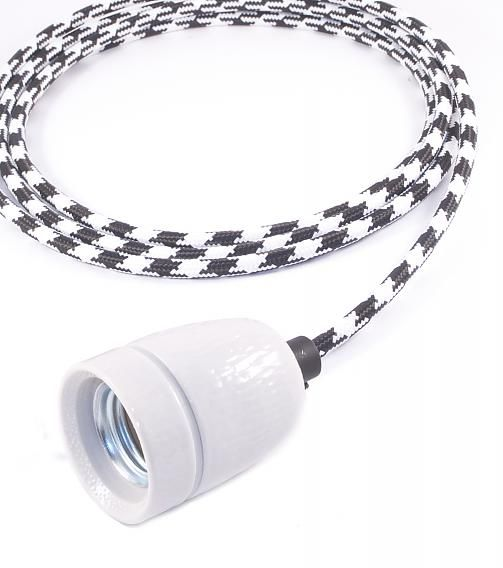 Lichtlab Draadlamp Zwart/Wit Oldtimer