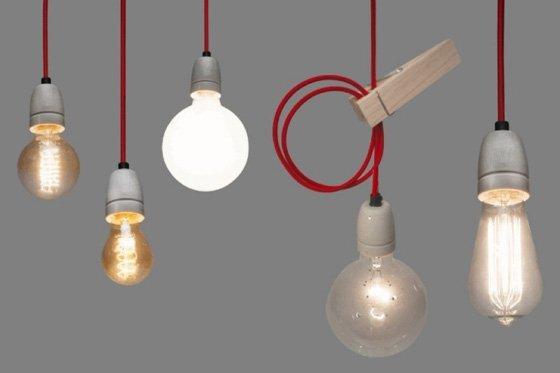 Lichtlab Draadlamp Zwart/Wit Zebra