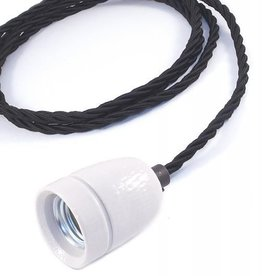 Lichtlab Draadlamp Torcido Zwart