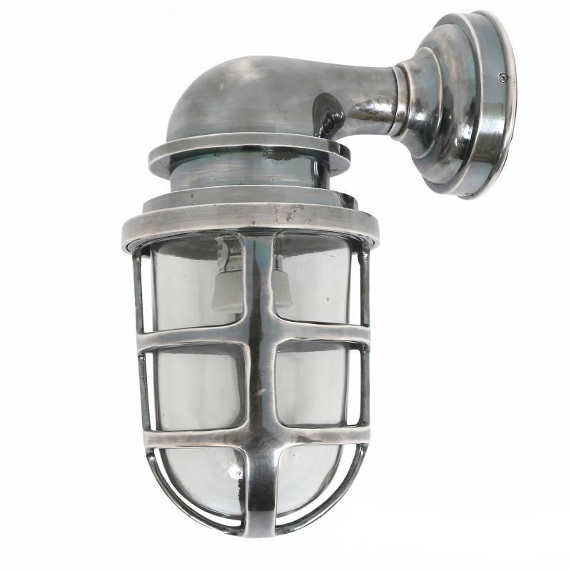 Buitenlamp brooklyn antiek zilver puur basic interieur for Stoere industriele wandlampen