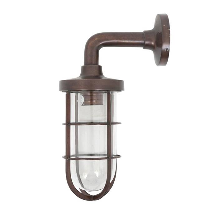 Industriële verlichting Buitenlamp Tristan Antiek Brass