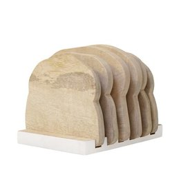 Hk Living Houten bordenrekje Half wit - Loaf