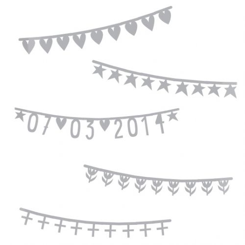 a Little Lovely Company Letterslinger banner Aanvulling Zilver