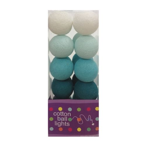 cottonball lights cotton ball lights blauw aqua mix