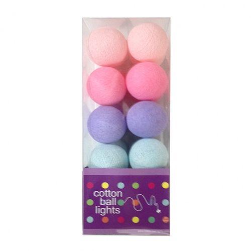 Cottonball Lights Cotton Ball Lights Pastel Mix Roze-Paars-Mint