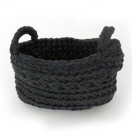 Naco Opbergmand Crochet Antraciet XS
