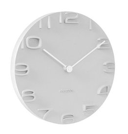 Present Time Karlsson Wall clock On The Edge - Wit