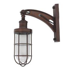 Industriële verlichting Wandlamp Hudson Dark Brass