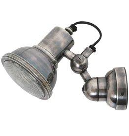 Industriële verlichting Wandlamp Memphis Antiek Zilver