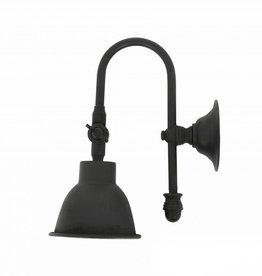 Industriële verlichting Wandlamp Pasco Antiek Mat Zwart