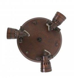 Industriële verlichting Plafondlamp Westham Antiek Dark Brass Koper