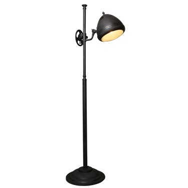 Industri le vloerlamp estoril antiek mat zwart puur for Industriele vloerlamp