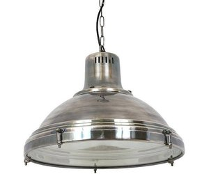 Industriële hanglamp Agra Antiek Zilver - Puur Basic Interieur