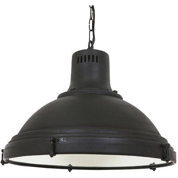 Industri u00eble hanglamp Agra Antiek Mat Zwart   Puur Basic Interieur