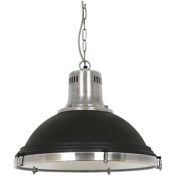 Industriële hanglamp Agra Vintage steel black - Puur Basic Interieur
