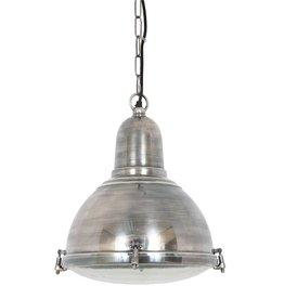 Industriële verlichting Hanglamp Albion Antiek Zilver