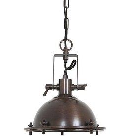 Industriële verlichting Hanglamp Beaufort Antiek Dark Brass Koper