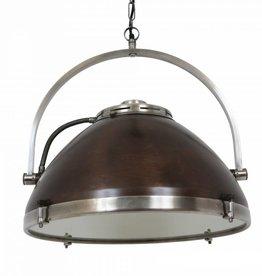 Industriële verlichting Hanglamp Bombay Vintage steel dark brass koper