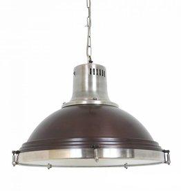 Industriële verlichting Hanglamp Agra Vintage steel dark brass koper