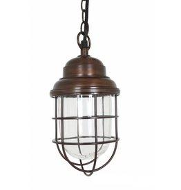 Industriële verlichting Hanglamp Cornwall Antiek dark brass koper