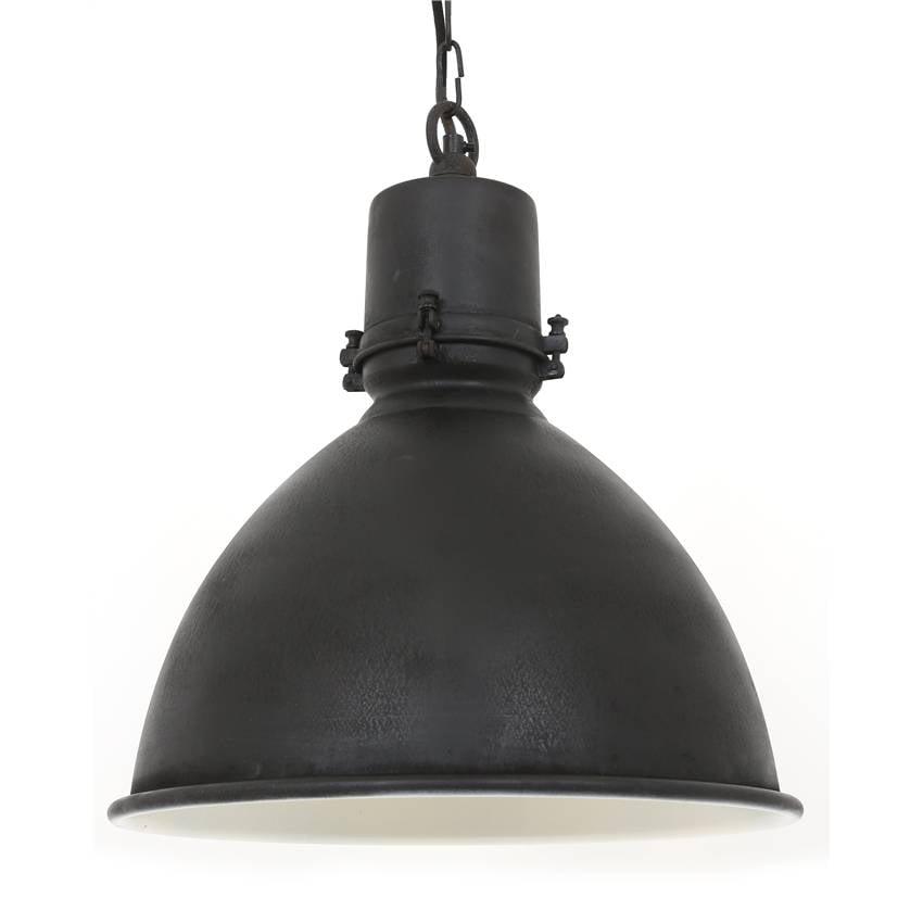 Industriële hanglamp Falcon Antiek Mat Zwart - Puur Basic Interieur