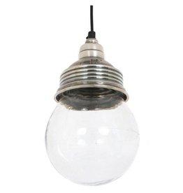 Industriële verlichting Hanglamp Vidro Antiek Zilver