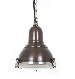 Industriële verlichting Hanglamp Savoy Vintage steel dark brass koper
