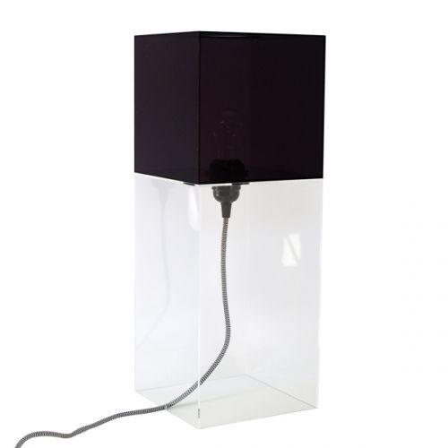 hk living plexiglas lamp zwart transparant puur basic interieur. Black Bedroom Furniture Sets. Home Design Ideas