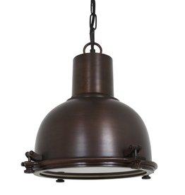 Industriële verlichting Hanglamp Kingston Antiek dark brass koper