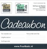Puur Basic Interieur & Kids Cadeaubon €50
