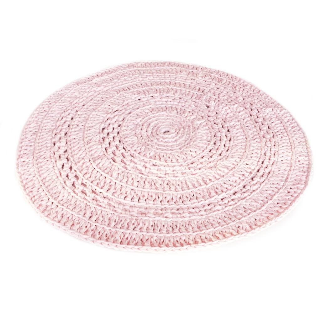 rond gehaakt kleed - crochet roze - puur basic interieur, Deco ideeën