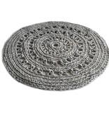 Naco Gehaakt vloerkleed crochet Grijs