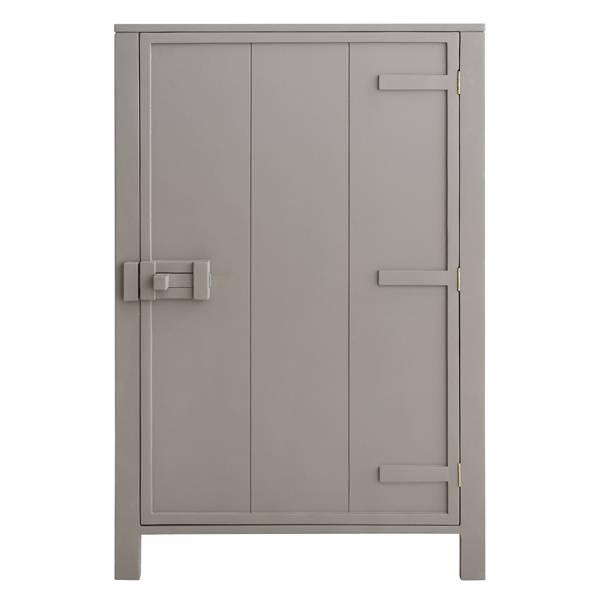 Hk living kast met enkele deur taupe puur basic interieur - Taupe kleurdeur ...