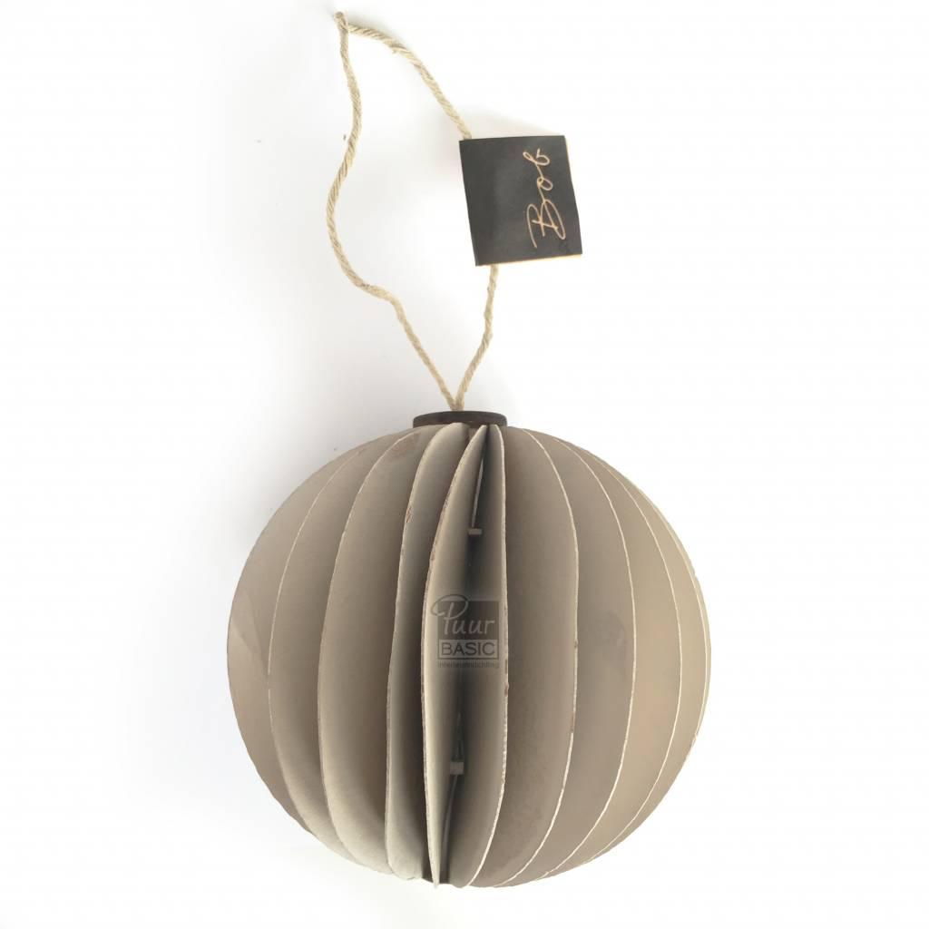 Prachtige créme papieren kerstballen - Bob design - Puur Basic Interieur