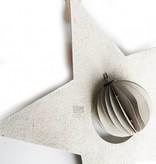Bob Design Bob design - Kerstster met bal papier - Créme