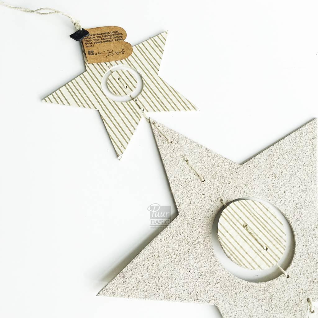Bob Design Bob design - Kerstster decoratie hanger - Créme