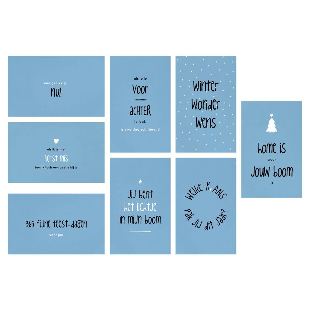 Set Prachtige Kerstkaarten Met Mooie Teksten Van Zinvol