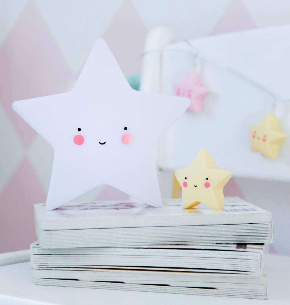 a Little Lovely Company A Little Lovely Company Mini sterlamp - Nachtlampje - Wit - Roze - Mint