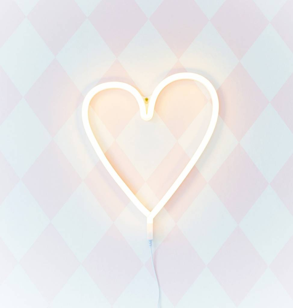 a Little Lovely Company A Little Lovely Company Neon lamp Hart - Roze / Geel