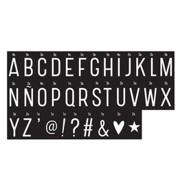 a Little Lovely Company Lightbox Monochrome letters - Zwart